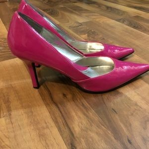 Rampage Patent Leather Pumps, Fuschia, Size 9